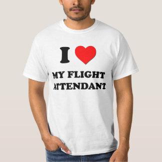 Amo a mi asistente de vuelo camisas