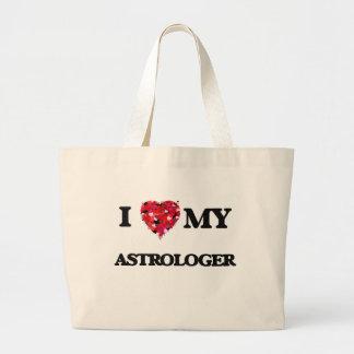 Amo a mi astrólogo bolsa tela grande