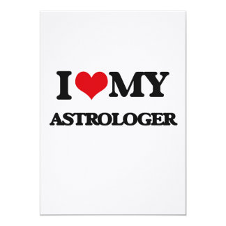 Amo a mi astrólogo invitación 12,7 x 17,8 cm