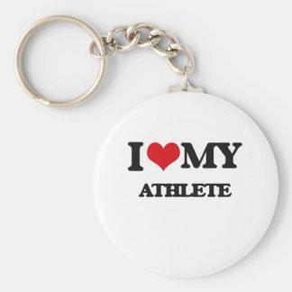 Amo a mi atleta llaveros personalizados