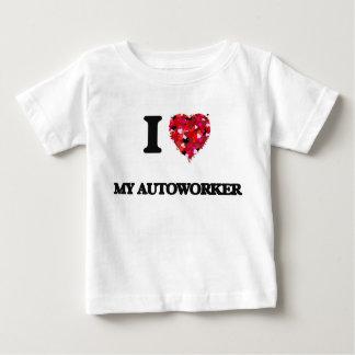 Amo a mi Autoworker Playera De Bebé