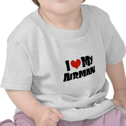 Amo a mi aviador (rojo) camiseta
