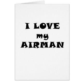 Amo a mi aviador tarjeta de felicitación