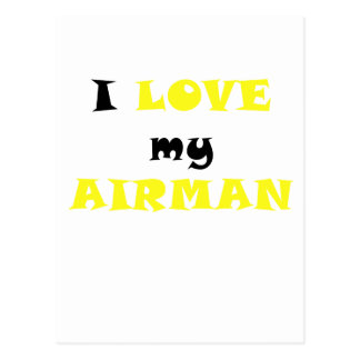 Amo a mi aviador tarjetas postales