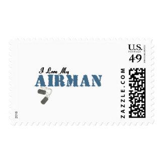 Amo a mi aviador timbre postal