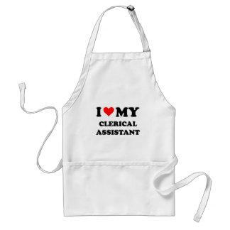 Amo a mi ayudante administrativo delantales