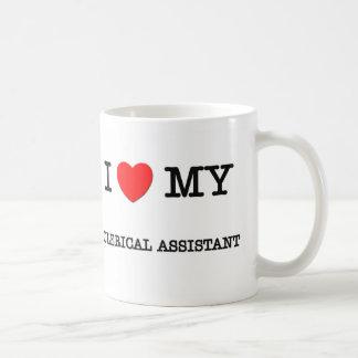 Amo a mi AYUDANTE ADMINISTRATIVO Tazas De Café
