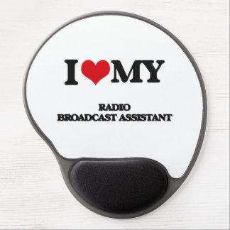 Amo a mi ayudante de la emisión de radio alfombrilla de raton con gel