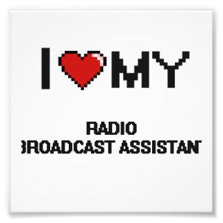 Amo a mi ayudante de la emisión de radio cojinete