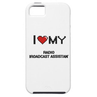 Amo a mi ayudante de la emisión de radio iPhone 5 Case-Mate carcasas