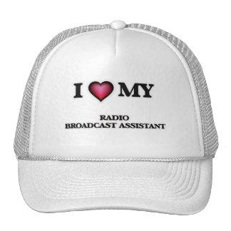 Amo a mi ayudante de la emisión de radio gorros