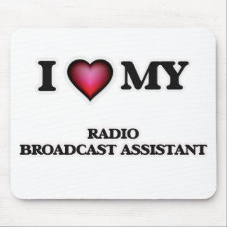 Amo a mi ayudante de la emisión de radio mouse pads