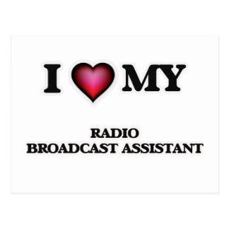 Amo a mi ayudante de la emisión de radio postales