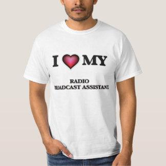 Amo a mi ayudante de la emisión de radio remeras
