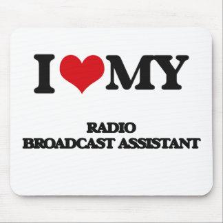 Amo a mi ayudante de la emisión de radio tapete de raton