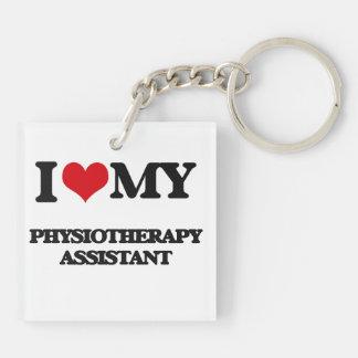 Amo a mi ayudante de la fisioterapia llavero