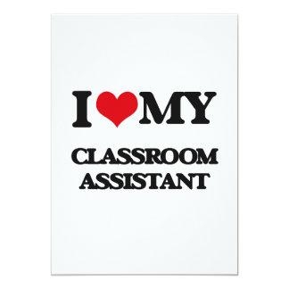 Amo a mi ayudante de la sala de clase invitaciones personalizada