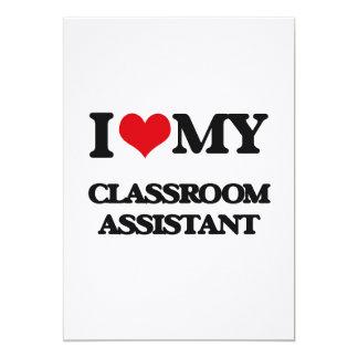 Amo a mi ayudante de la sala de clase invitaciones personales