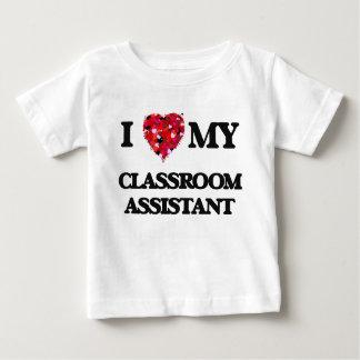 Amo a mi ayudante de la sala de clase playeras