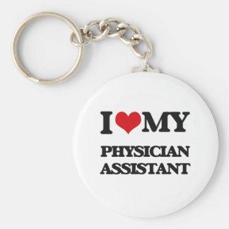Amo a mi ayudante del médico llavero personalizado