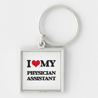 Amo a mi ayudante del médico llaveros personalizados