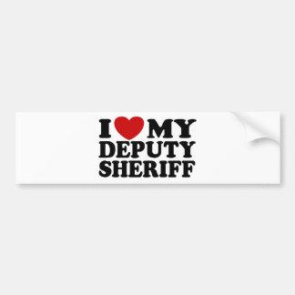 Amo a mi ayudante del sheriff pegatina para auto