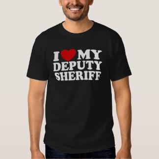 Amo a mi ayudante del sheriff poleras