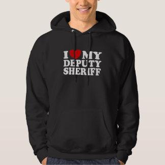 Amo a mi ayudante del sheriff suéter con capucha