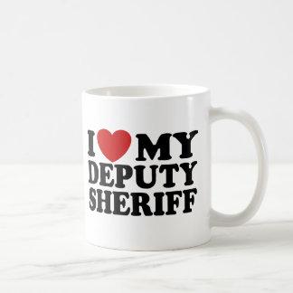 Amo a mi ayudante del sheriff taza