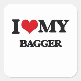 Amo a mi Bagger Pegatinas
