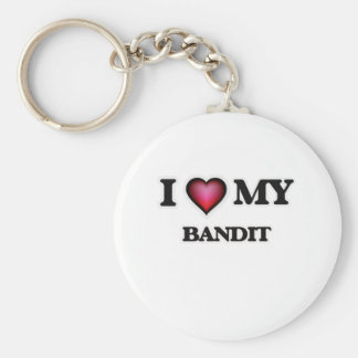 Amo a mi bandido llavero redondo tipo pin