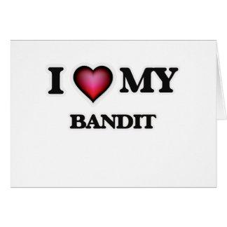 Amo a mi bandido tarjeta de felicitación