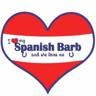 Amo a mi Barb español el caballo femenino Escultura Fotográfica