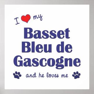 Amo a mi Basset Bleu de Gascogne (el perro masculi Posters