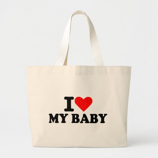 Amo a mi bebé bolsas lienzo