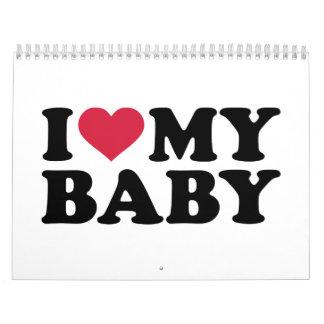 Amo a mi bebé calendarios