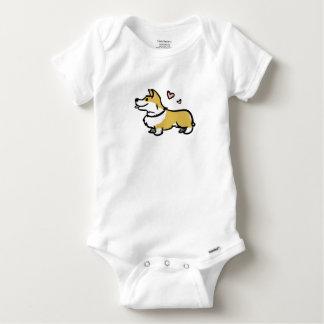 Amo a mi bebé del corgi body para bebé
