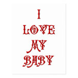 Amo a mi bebé postales