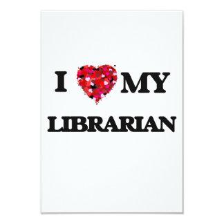 """Amo a mi bibliotecario invitación 3.5"""" x 5"""""""