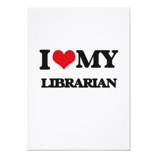 """Amo a mi bibliotecario invitación 5"""" x 7"""""""