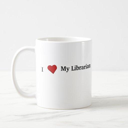 Amo a mi bibliotecario taza de café