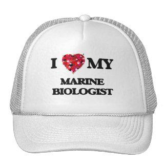 Amo a mi biólogo marino gorros