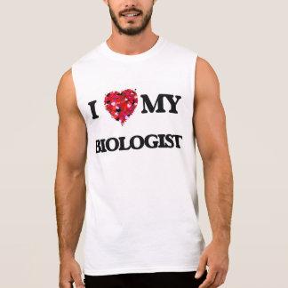 Amo a mi biólogo camiseta sin mangas