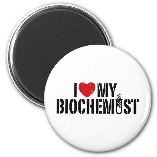 Amo a mi bioquímico imanes para frigoríficos