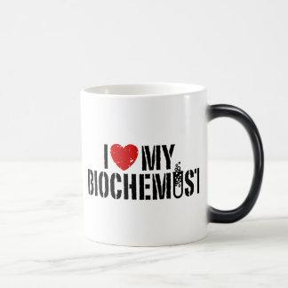 Amo a mi bioquímico taza mágica