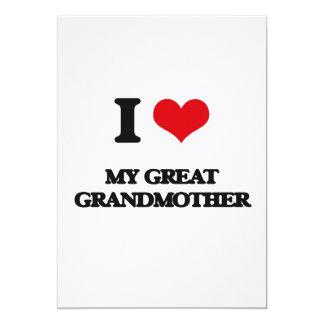 Amo a mi bisabuela invitación 12,7 x 17,8 cm