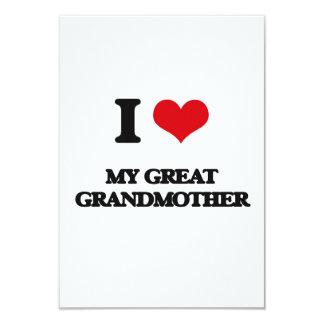 Amo a mi bisabuela invitación 8,9 x 12,7 cm