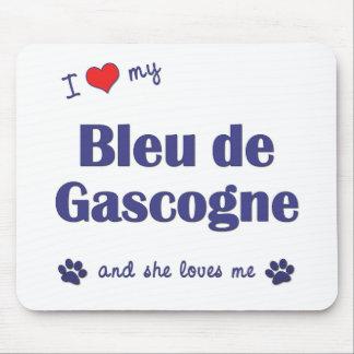 Amo a mi Bleu de Gascogne (el perro femenino) Tapetes De Ratones