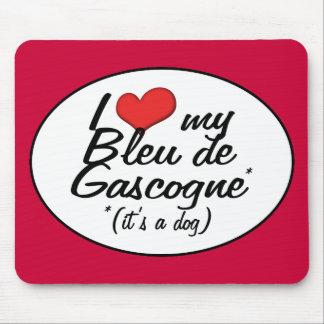 Amo a mi Bleu de Gascogne (es un perro) Tapetes De Ratón