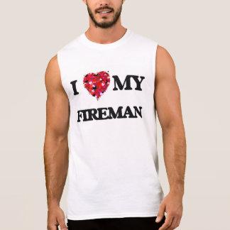 Amo a mi bombero camisetas sin mangas
